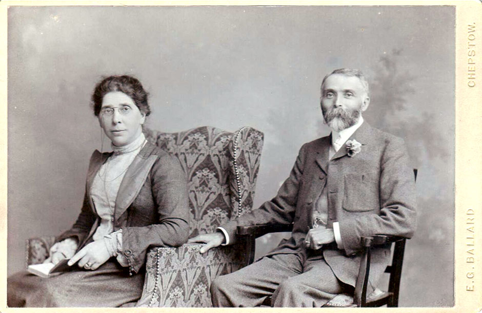 Joseph and Mary Child.  A Silver Wedding photograph from 1903