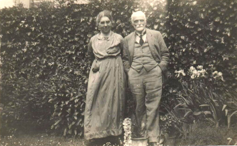 Joseph and Mary Child on 18 June 1926.  Photo sent by their grandson Colin McMullen from the USA