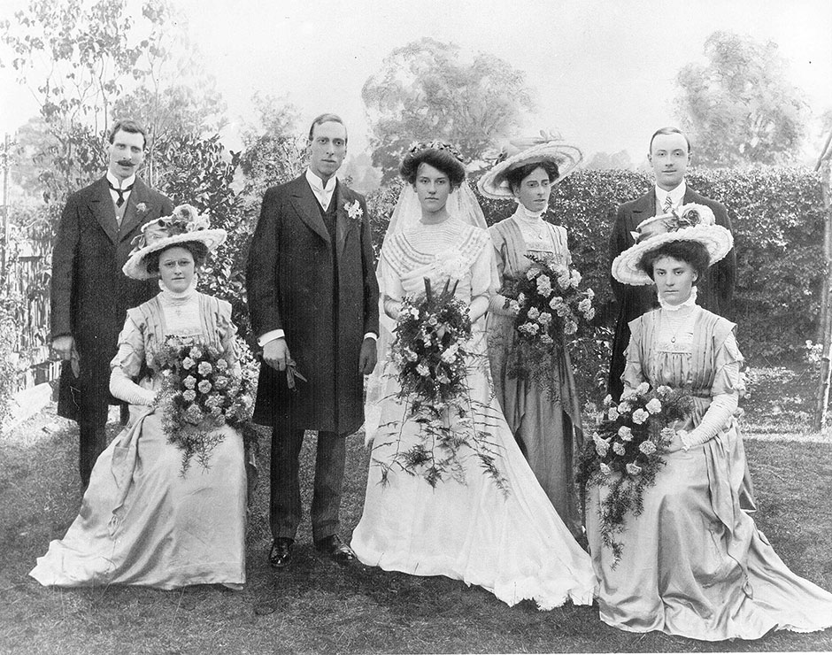The marriage of Graham Child and Dorothy Ellen Gough at Calne (Wiltshire) in 1910