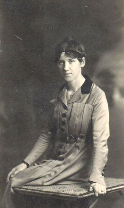 A portrait of Dorothy Child taken at Marseilles in April 1918