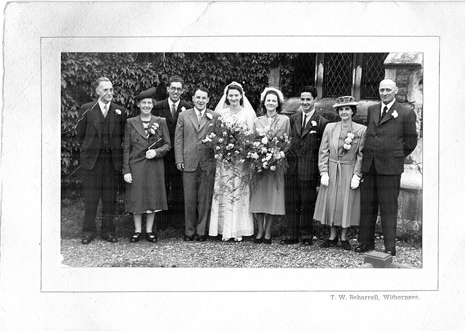 The marriage of Dick Child and Bertha Teasdale at Holderness in East Yorkshire in 1948