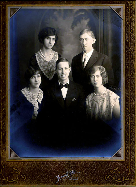 The McMullan family around 1930