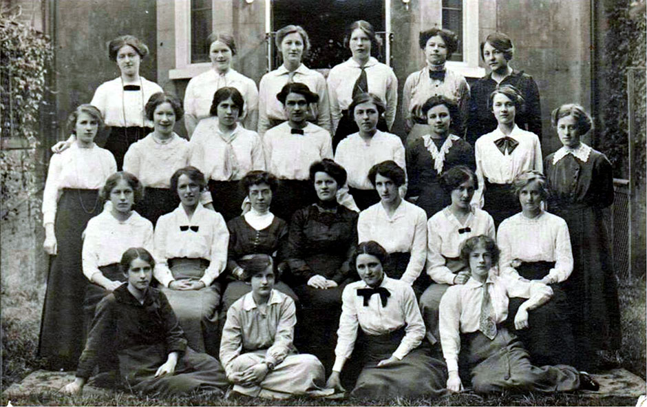 Rosalie at Marloe House YWCA in 1916.  She is the second from the left in the second row from the front.