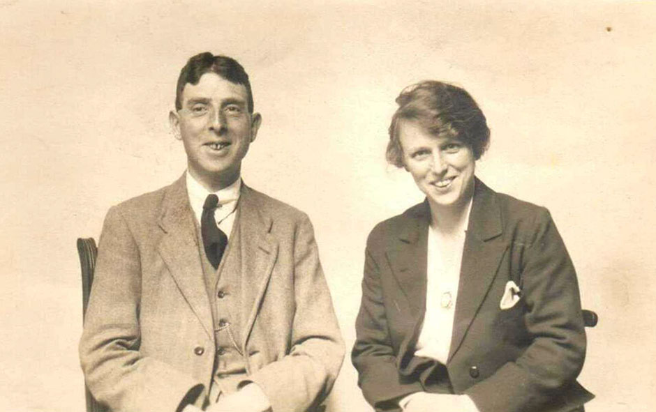 Stewart and Rosalie in 1921