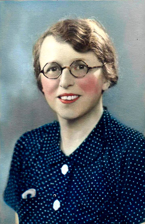 Rosalie (Barton) Child in a coloured portrait from around 1930