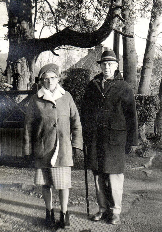 Stewart and Rosalie in later years.  After eventful and productive lives and a happy retirement, he died in 1974 and she in 1988.