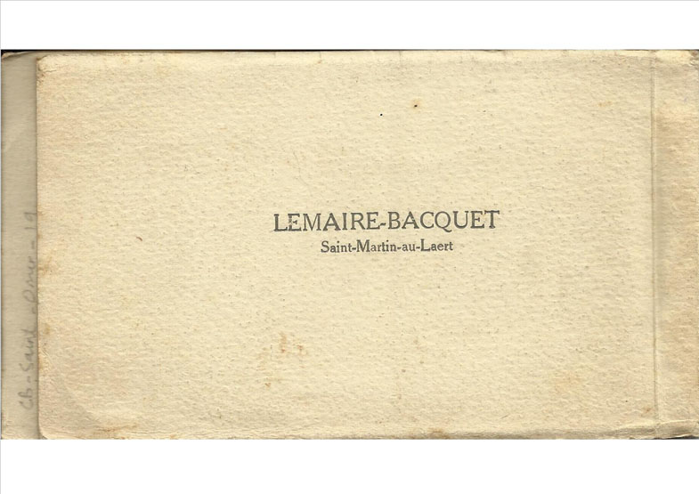 Rear cover of second booklet
